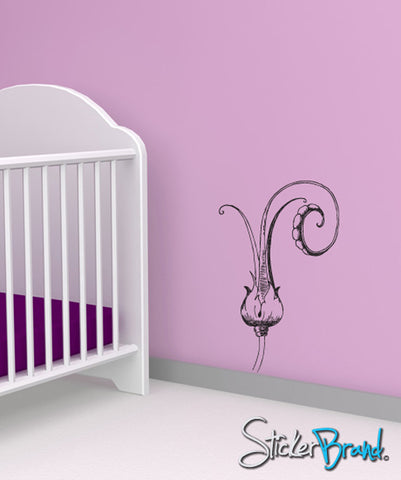 Vinyl Wall Decal Sticker Flower Sprouting #796