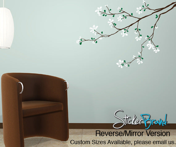 Vinyl Wall Decal Sticker Flower Tree Branch - Custom vinyl wall decals flowers