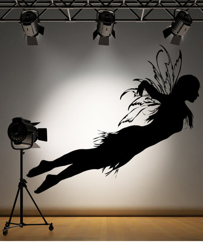 Vinyl Wall Decal Sticker Fairy in Flight #AC172