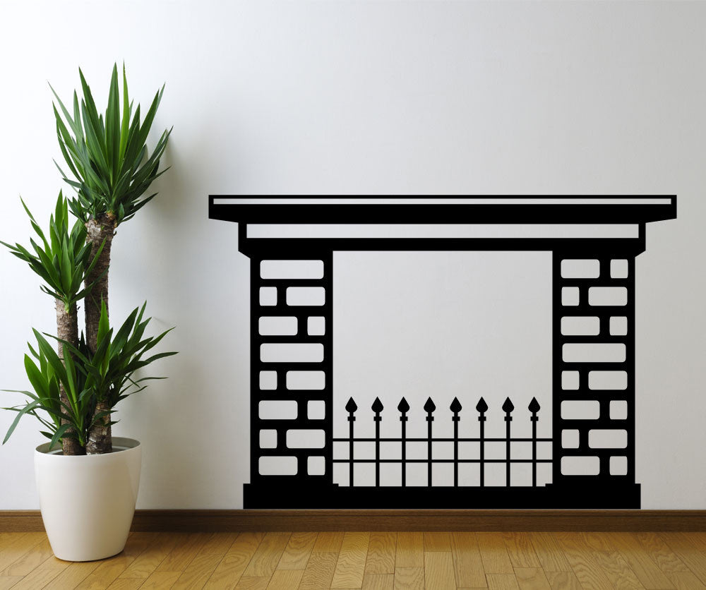 Vinyl Wall Decal Sticker Fire Place #OS_MG174