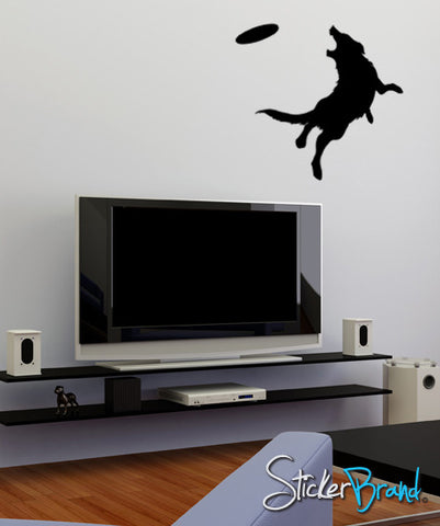 Vinyl Wall Decal Sticker Frisbee Dog #GFoster102