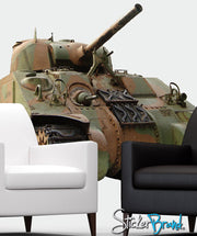 Graphics Wall Decal Sticker Front Tank #JH113