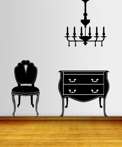 Vinyl Wall Decal Sticker Furniture Set #OS_MG168