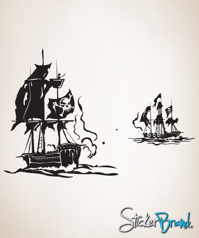 Vinyl Wall Decal Sticker Pirate Ships #GFoster125