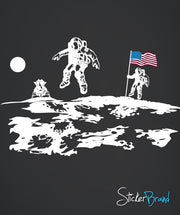 Vinyl Wall Decal Sticker Astronaut Moon Walking #Gfoster162