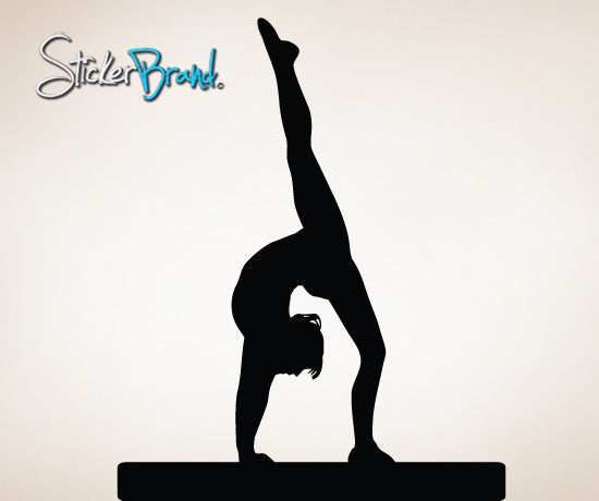 Vinyl Wall Decal Sticker Gymnastics Balance Beam #812