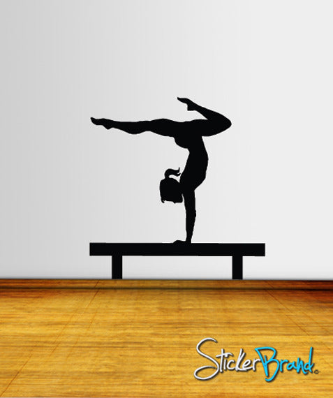Vinyl Wall Decal Sticker Gymnastic Balance Beam #813