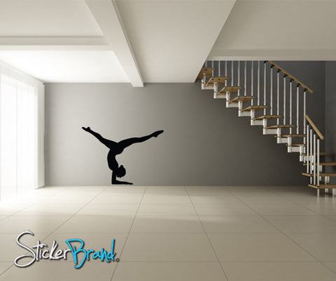 Vinyl Wall Decal Sticker Gymnastic Floor Routine #814
