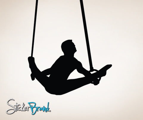 Vinyl Wall Decal Sticker Gymnastic Rings #815