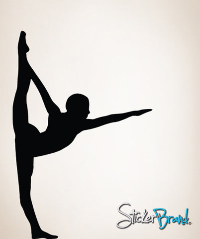 Vinyl Wall Decal Sticker Gymnastics Stretch #811