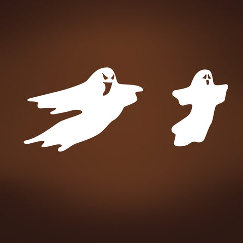 Vinyl Wall Decal Sticker Halloween Spooky Ghost #394
