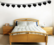 Vinyl Wall Decal Sticker String of Heart Lights #OS_MG294