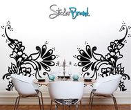Vinyl Wall Decal Henna Tattoo Swirls #AC117