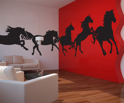 Wall Vinyl Decal Sticker Horses Running #MMartin134