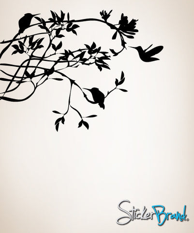 Vinyl Wall Decal Humming Bird on Branches #AC118