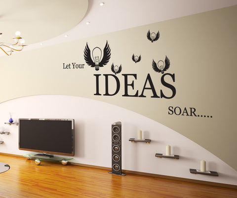 Vinyl Wall Decal Sticker Let Your Ideas Soar #GFoster174