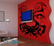 Vinyl Wall Decal Sticker Abstract Ink Blot Art Design #AC128