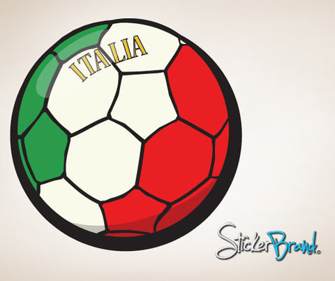 Graphic Wall Decal Sticker Football Soccer Italia Italy #JH36