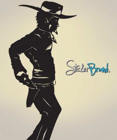 Vinyl Wall Decal Sticker Standoff Cowboy Sheriff #JH165