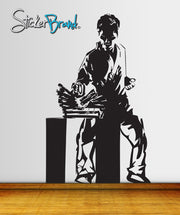 Vinyl Wall Decal Sticker Karate Chop on Wooden Boards #JH186