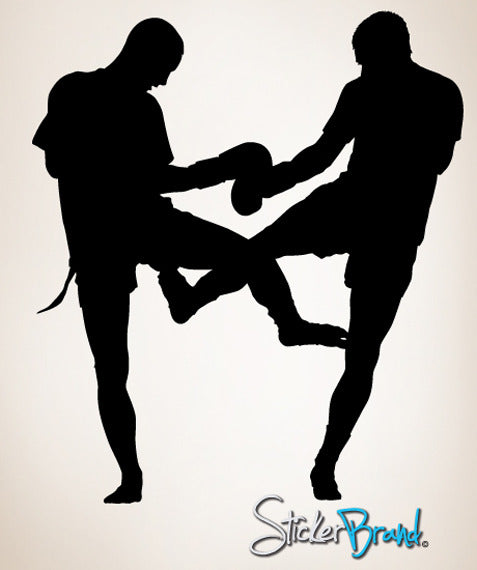 Vinyl Wall Decal Kickboxer Muay Thai Boxing #767