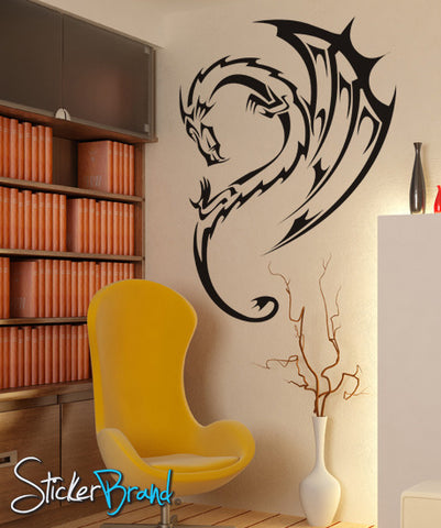 Vinyl Wall Decal Sticker Dragon Wing Fairytale #KRiley102