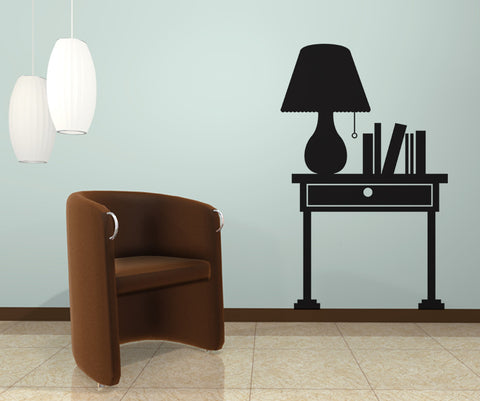 Vinyl Wall Decal Sticker Lamp and Desk #OS_DC101