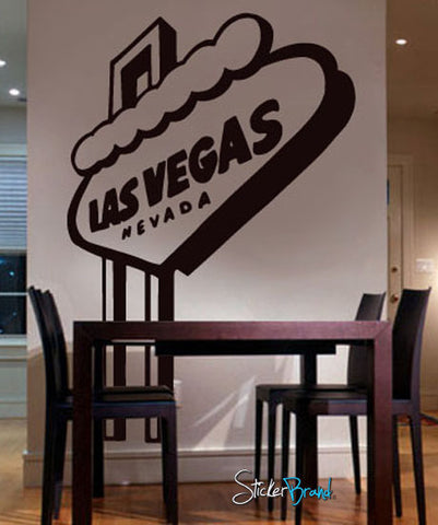 Vinyl Wall Decal Sticker LAS VEGAS sign #173