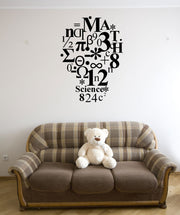 Vinyl Wall Decal Sticker School Subject Light Bulb #OS_MG190