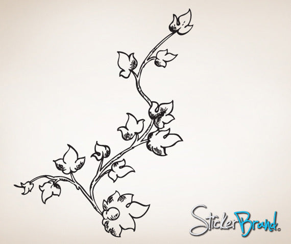 Vinyl Wall Decal Sticker Leaf Vine #799