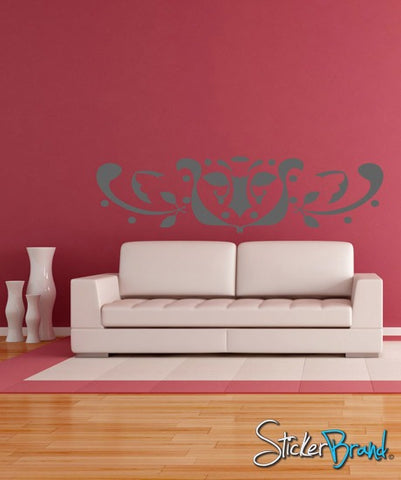Vinyl Wall Decal Abstract Leaf Design # AFord106