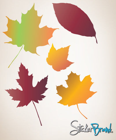 Wall Graphic Decal Autumn Leaves Falling #AC124