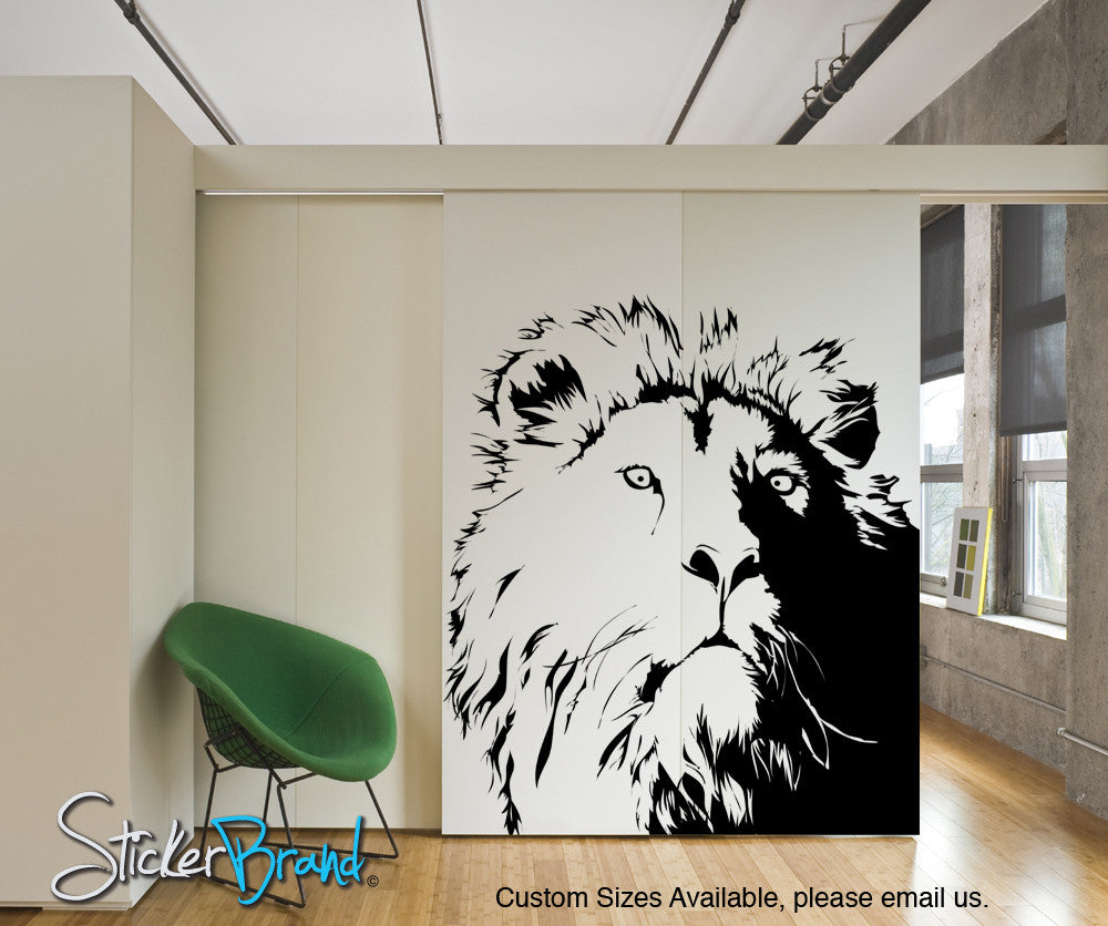 Vinyl Wall Decal Sticker Lion S Head Ac177