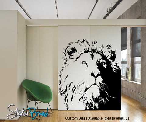 Vinyl Wall Decal Sticker Lion's Head #AC177