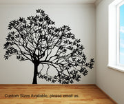 Vinyl Wall Decal Sticker Lopsided Tree #AC155