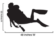 Vinyl Wall Art Decal Scuba Divers Diving 2 Decals #170