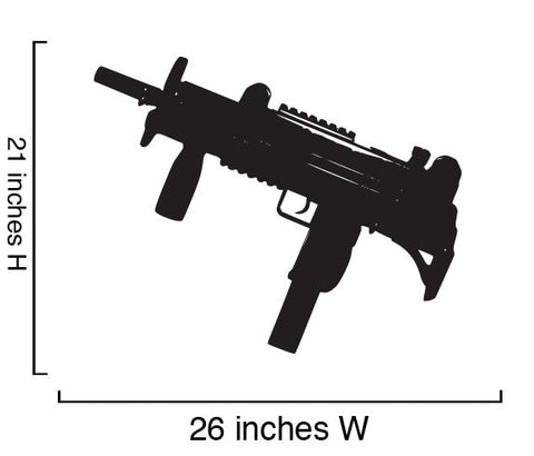 Assault Weapon Guns Wall Decal. (Set of 6) Guns #440
