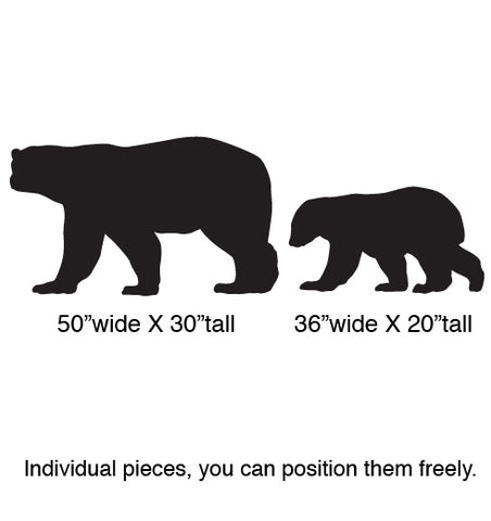 Vinyl Wall Decal Sticker Polar Bear w/ Baby Set #217