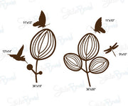 Vinyl Wall Decal Sticker Flower Garden Humming Bird #732