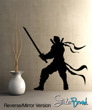 Vinyl Wall Decal Ninja Martial Arts Sword #GFoster110