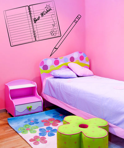Vinyl Wall Decal Sticker Notebook #OS_MG239