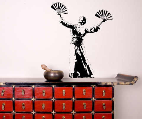 Vinyl Wall Decal Sticker Oriental Dancer #AC179