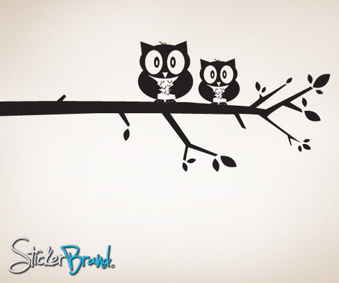 Vinyl Wall Decal Sticker Owl on Tree Branch #MM129
