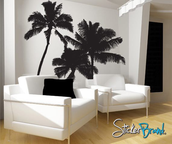 Vinyl Wall Decal Sticker Tropical Palm Trees 801