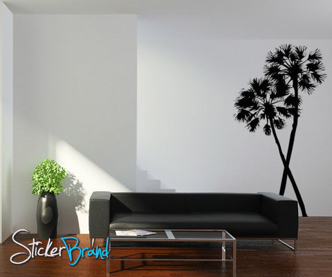 Vinyl Wall Decal Sticker Palm Trees (Pair) #AC115
