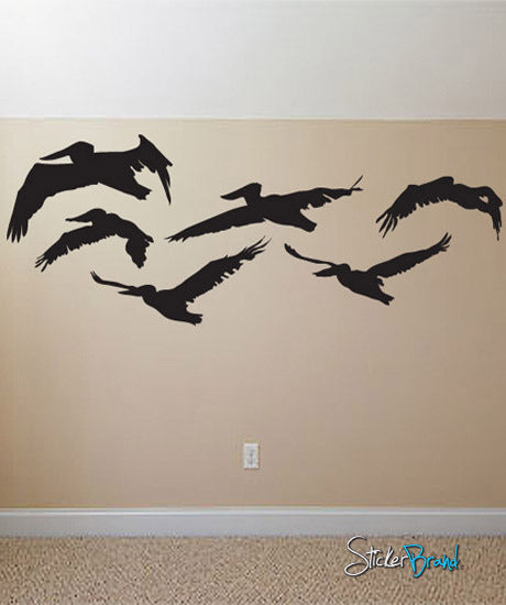 Vinyl Wall Decal Sticker Pelicans in Flight #538