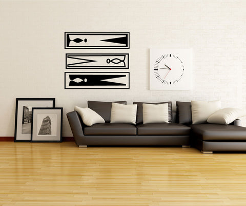 Vinyl Wall Decal Sticker Clothes Pins #OS_MG364