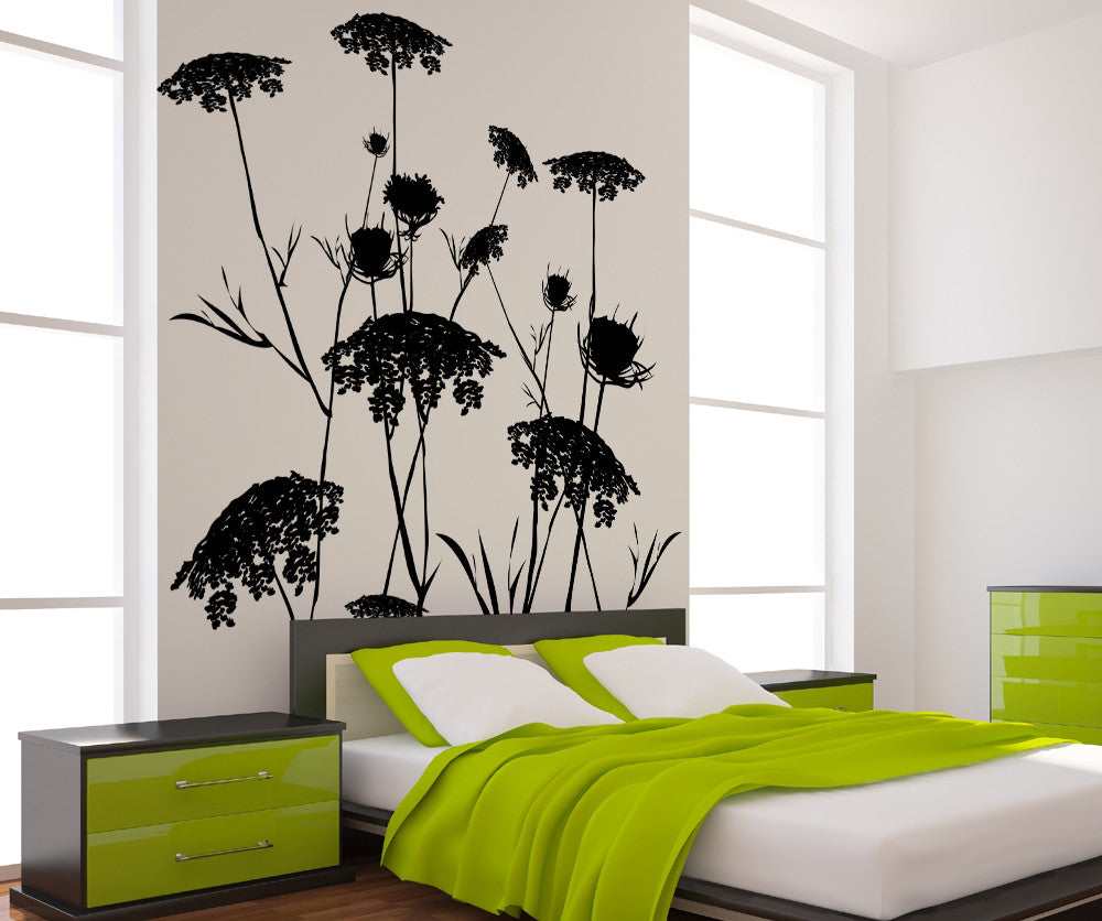 Vinyl Wall Decal Sticker Queen Anne's Lace #AC218