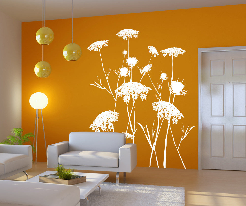 Vinyl wall decal sticker queen annes lace ac218 amipublicfo Gallery