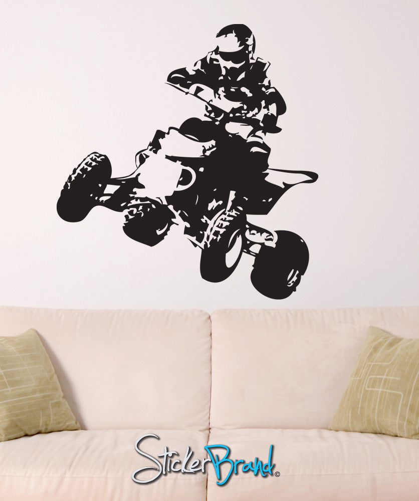 Vinyl Wall Decal Sticker Quad Bike #JH240